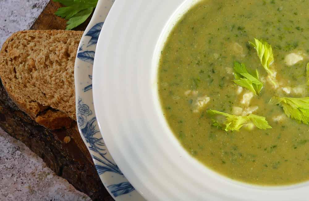 Broccoli Stilton Celery Soup