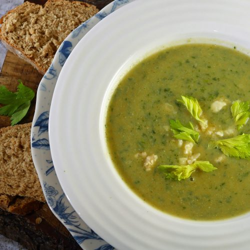 Broccoli Soup with Stilton and Celery