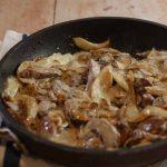 Pork stroganoff with fennel and mushroom