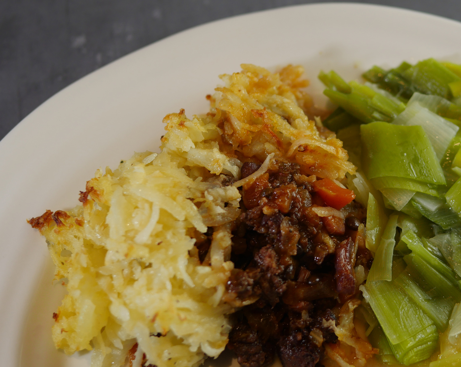 shepherds pie served