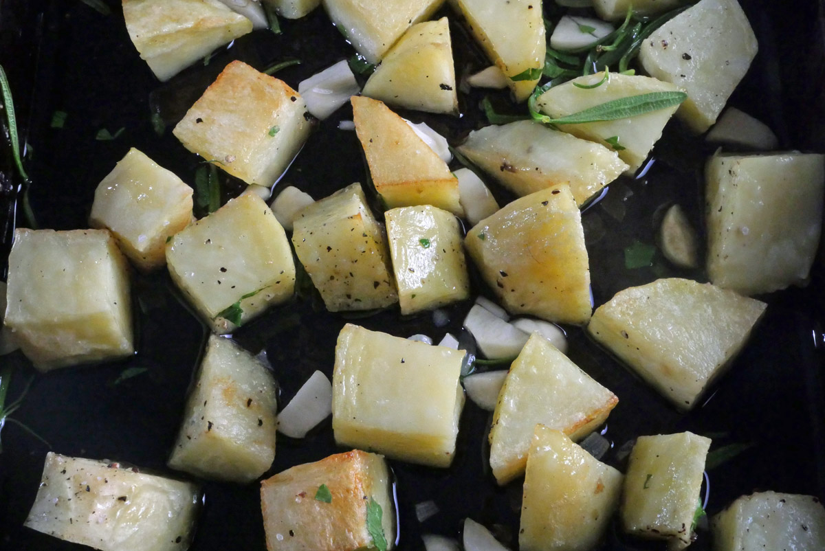 Parmentier Potatoes cooking 2