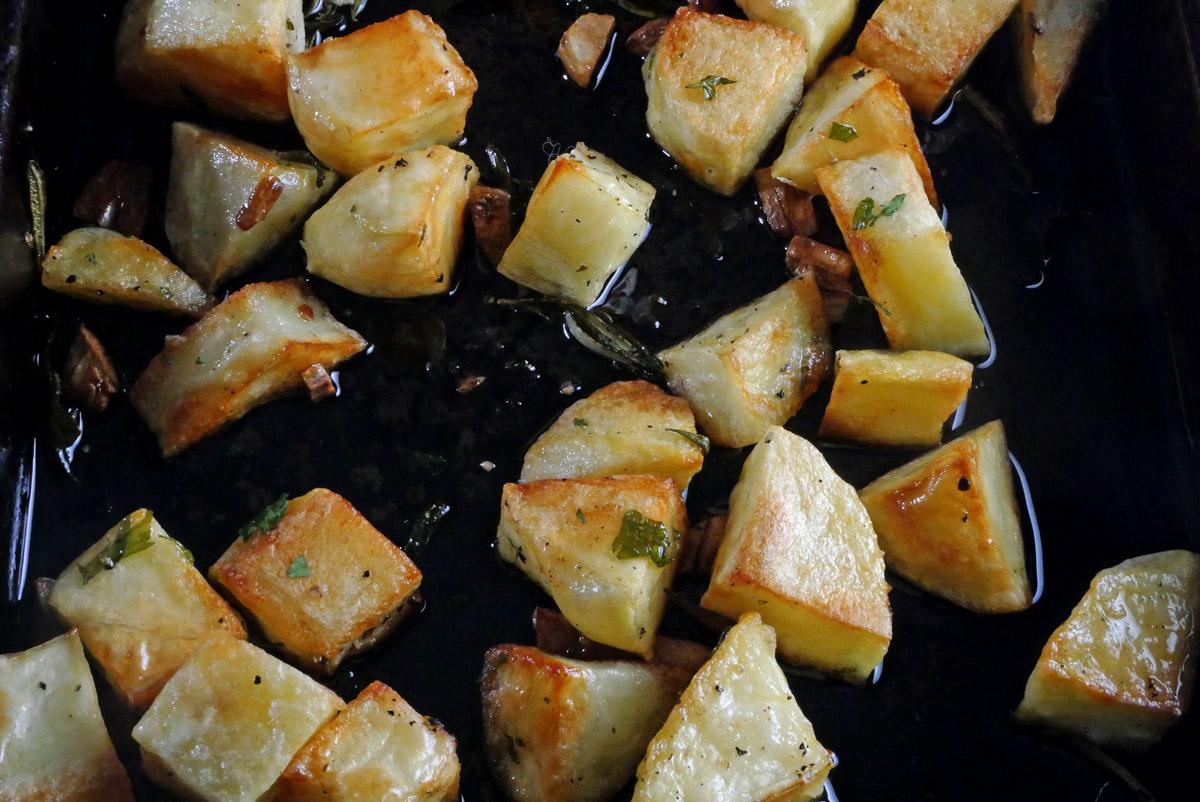 Parmentier Potatoes cooking