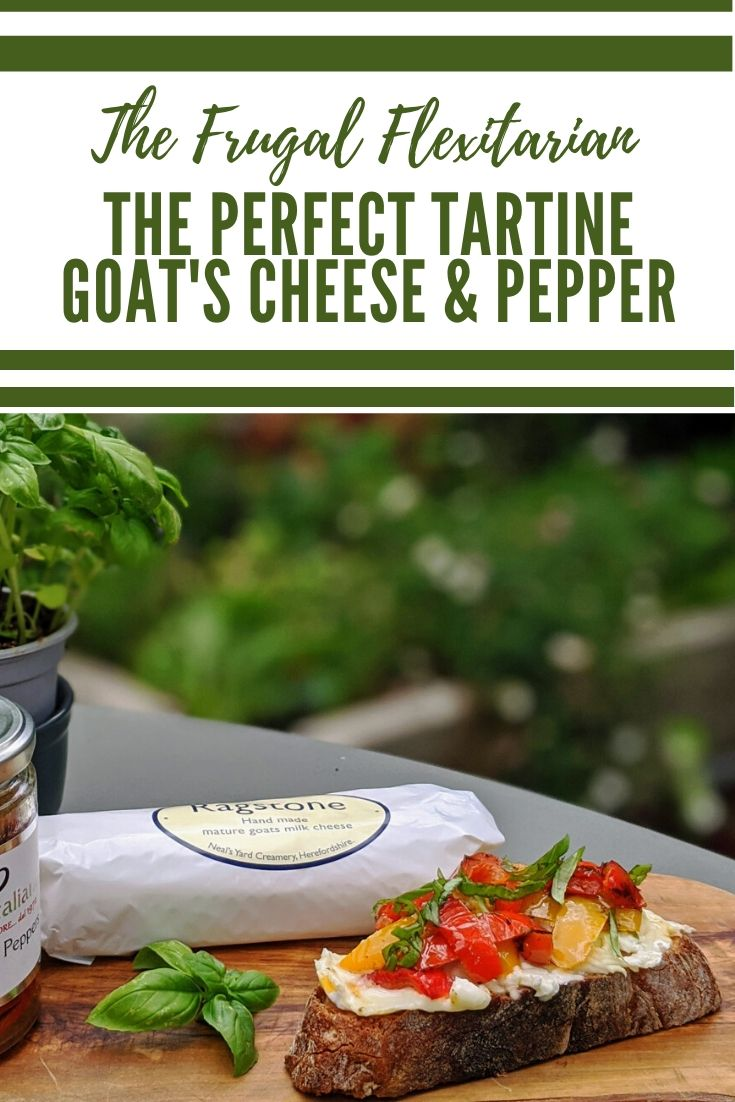 Goat's Cheese and Pepper Tartine