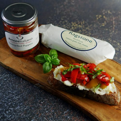 French Tartine Recipe - Goats Cheese and Red Pepper