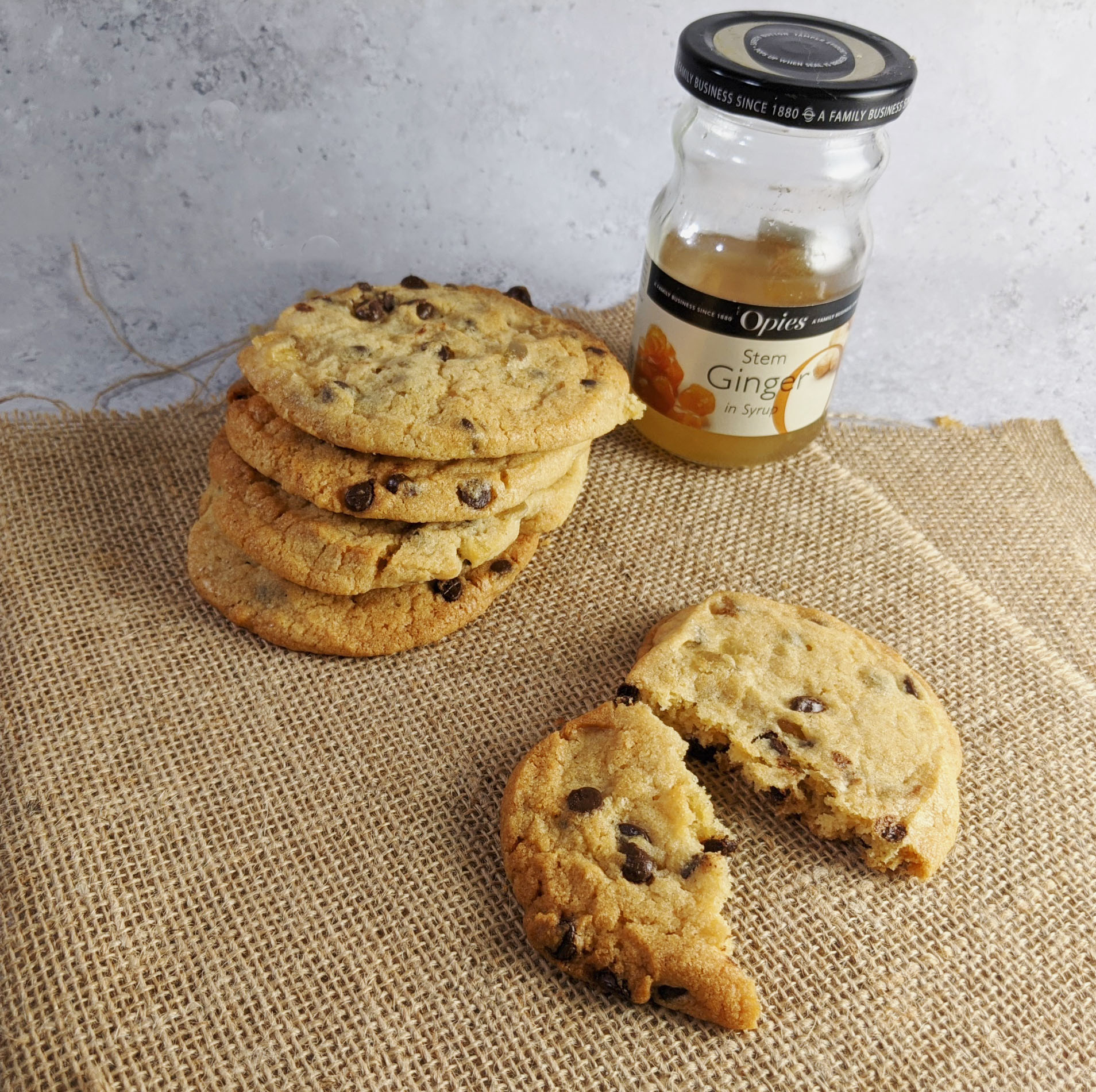 Chocolate Chip and Ginger Cookies with Opies