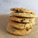 Stack of Ginger Chocolate Chip Cookies