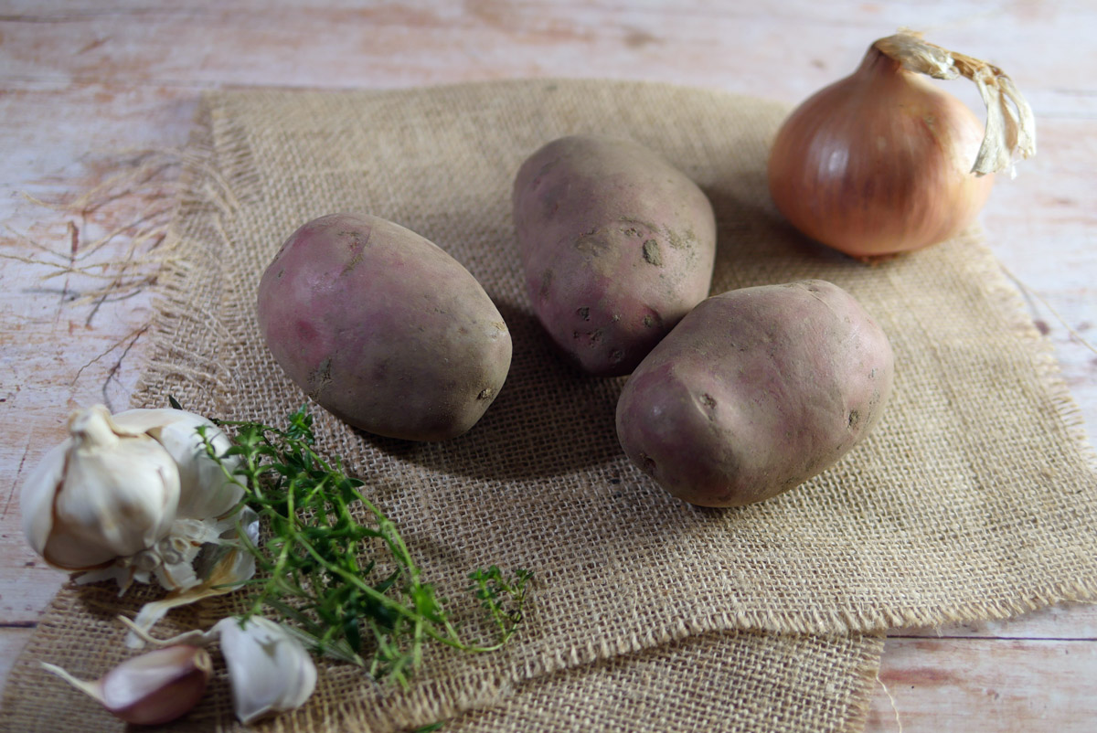 Ingredients for Boulangere Potatoes