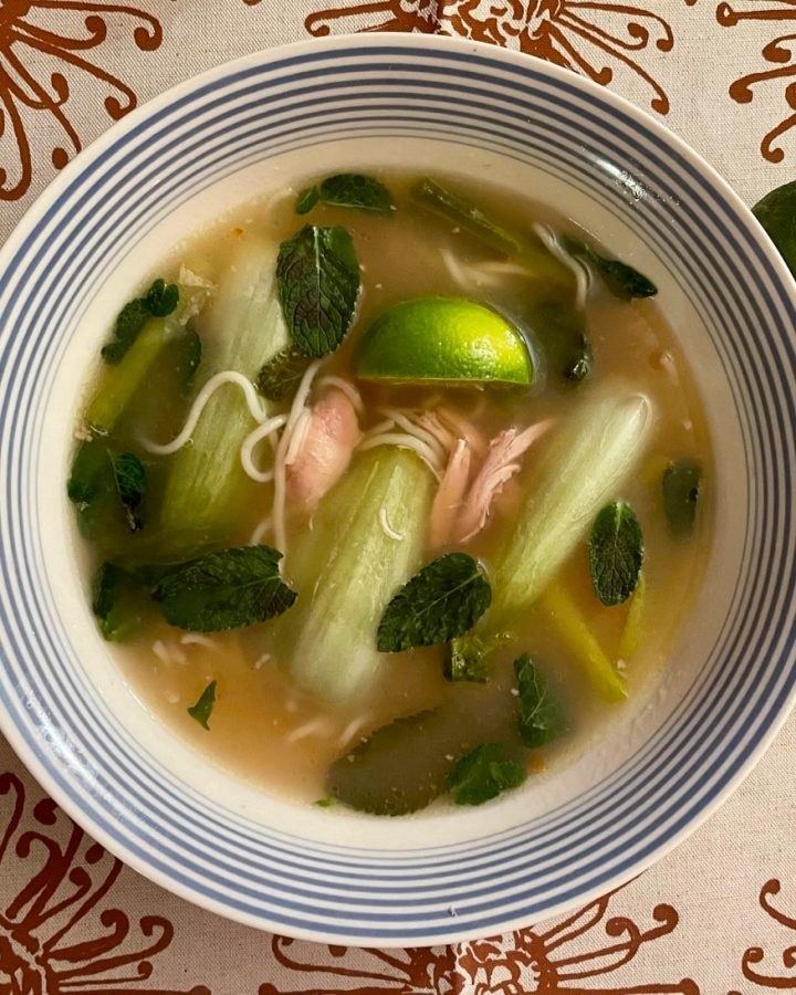 healthy chicken pho soup