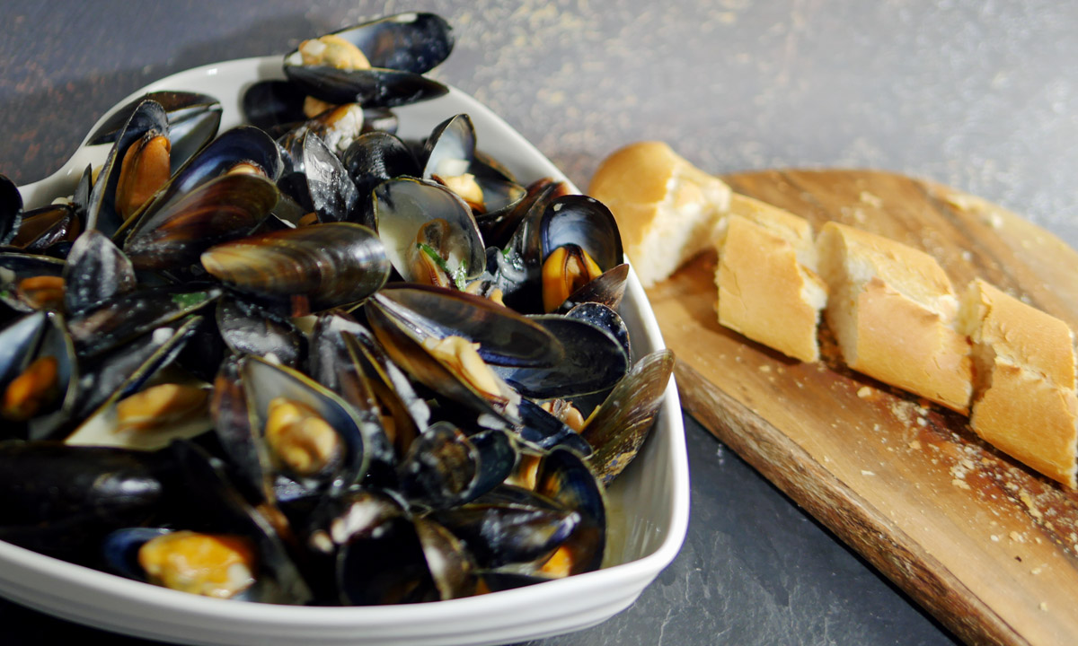 Mussels cream and cider