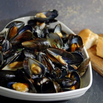 Mussels in Cider and Cream Sq