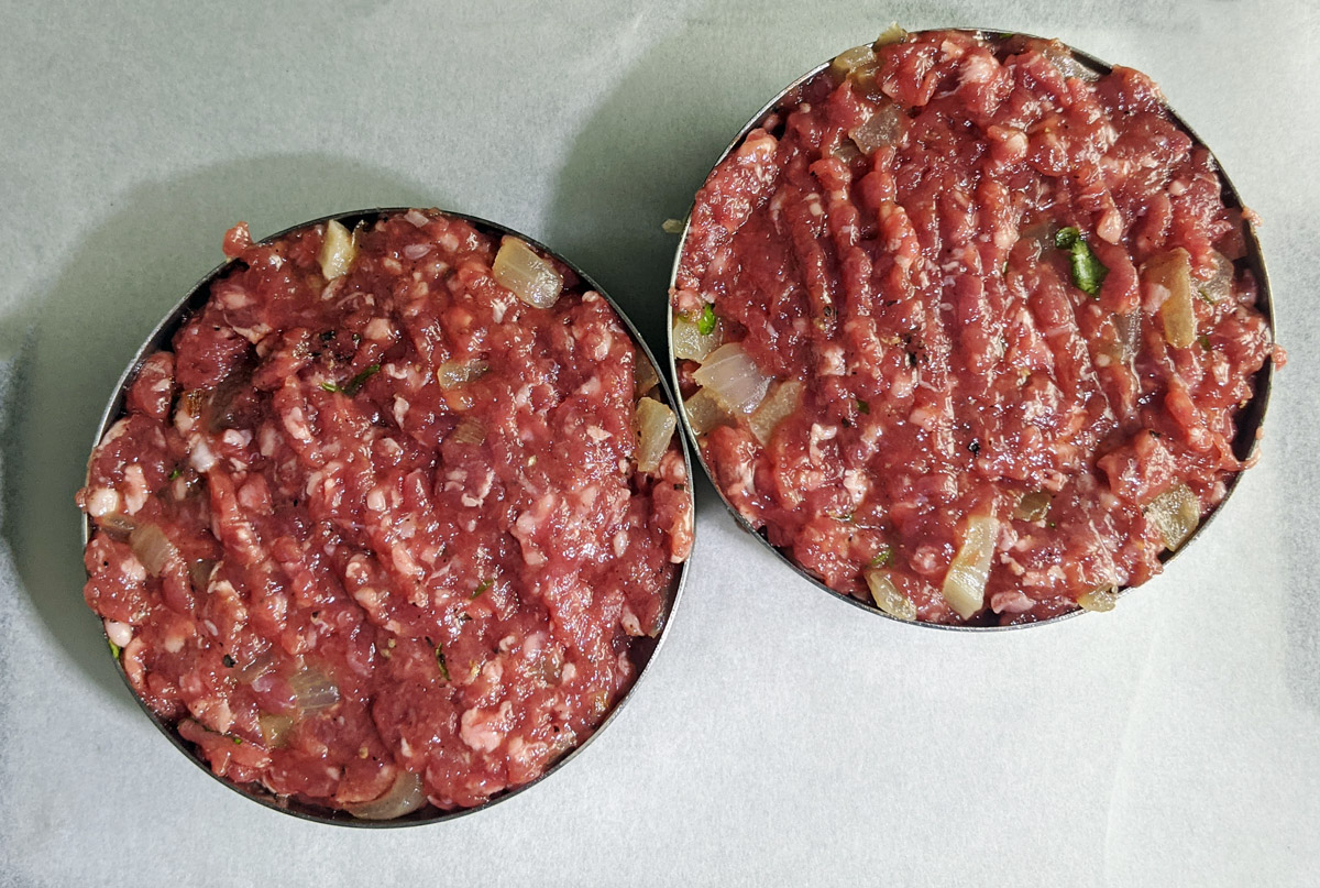 Venison Burgers in Rings