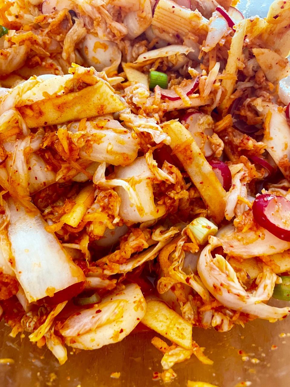 kimchi mixed ingredients