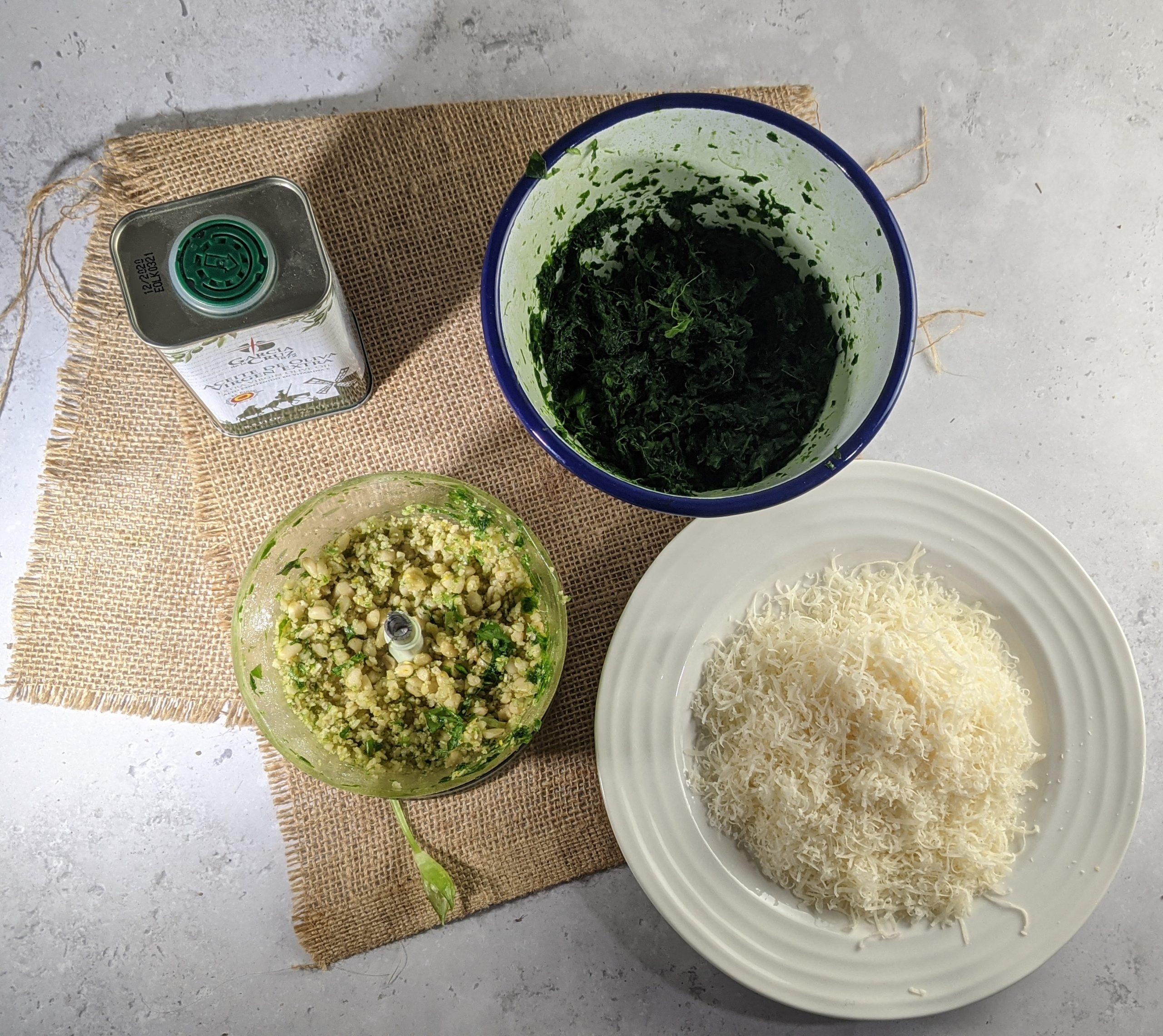 Process of making Wild Garlic Pesto
